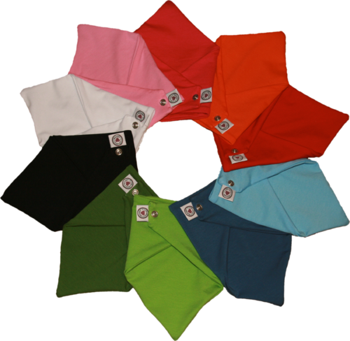 Zahntuch tooth bandana in 10 uni colors