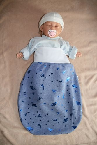 "sleeping bag with adjustable waistband ""outer space"""