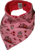 Wendezahntuch turnable tooth bandana pair of owls pink
