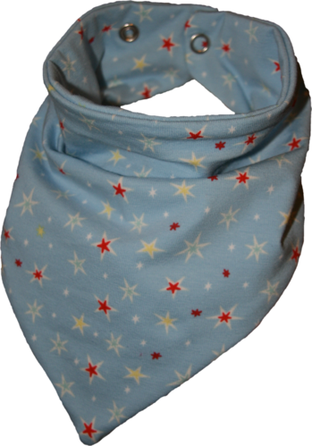 Zahntuch tooth bandana stars light blue