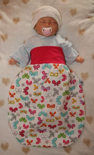 sleeping bag with cute animal motifs butterfly