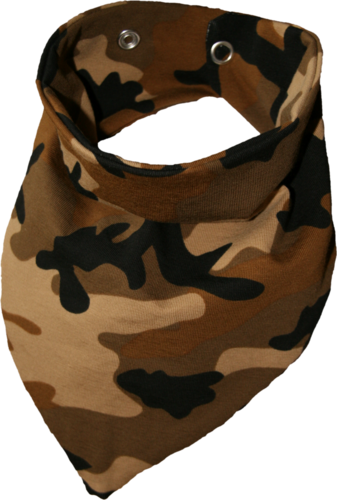 Zahntuch tooth bandana brown
