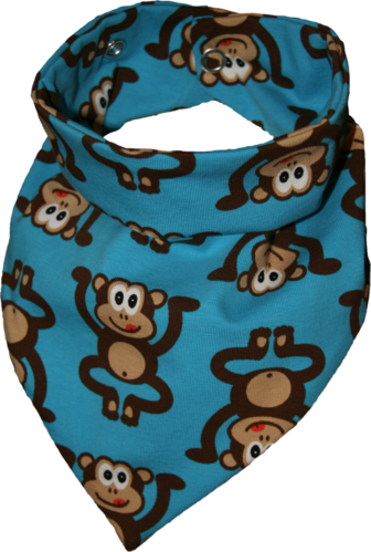 Zahntuch tooth bandana monkeys blue