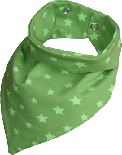 Zahntuch tooth bandana stars light green