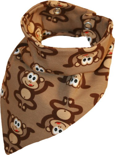 Zahntuch tooth bandana monkeys brown