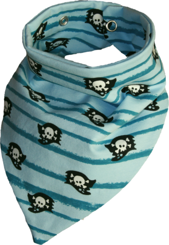 Zahntuch tooth bandana pirate flag blue